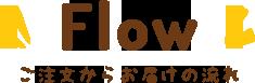 Flow -ご注文からお届けの流れ-